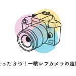 一眼レフカメラの超簡単な使い方(覚えるのはたった3つだけ)