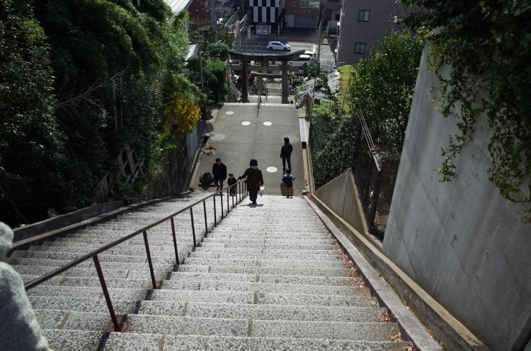 Ricoh GRで撮影した階段